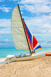 Sailing boat at the beach of Varadero in Cuba