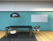 Concept Dining Room Blue Wall