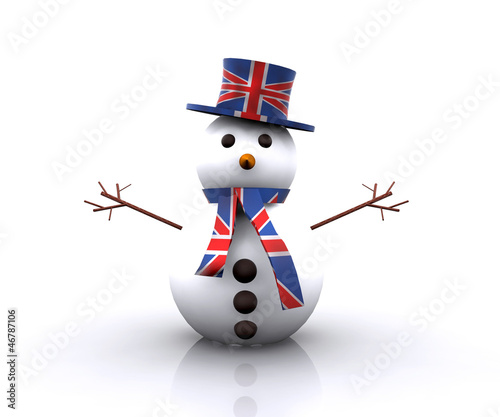 Cheerful Snowman English - 3D
