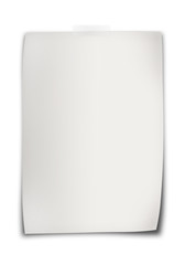 Feuille blanche, fond blanc