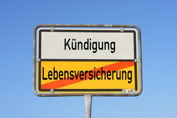 Schild Lebensversicherung © Matthias Buehner