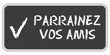 CB-Sticker TF eckig PARRAINEZ VOS AMIS