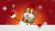 Christmas snowman greeting