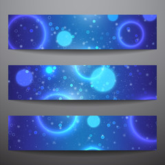 Set of vector web banners