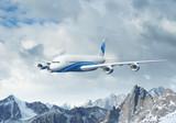Fototapete Reisen - Landschaft - Flugzeug