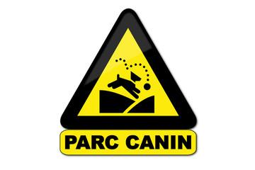 Panneau Parc canin