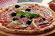 pizza capricciosa olive carciofi prosciutto