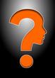 Fragezeichen, orange, Vektor