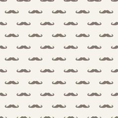 Seamless vector pattern texture gentleman mustaches background