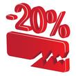 minus 20 percent