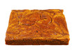 brownie with pumpkin isolated on white