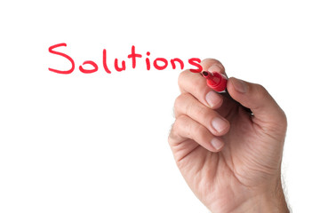 Solutions - hand writing on white board