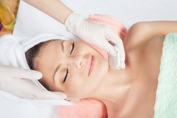 Cosmetic treatment at spa salon
