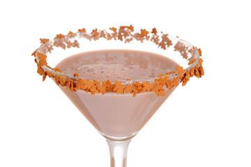 Macro gingerbread martini