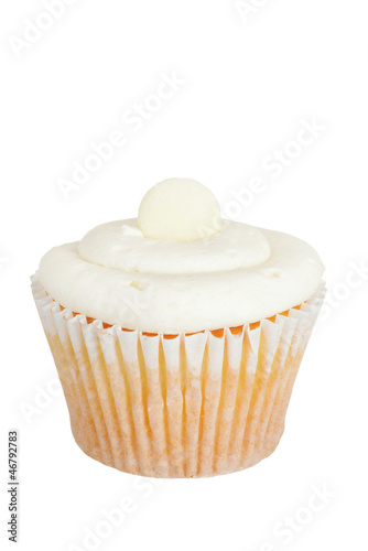 Isolated white cupcake