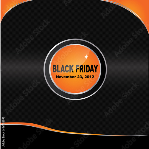 Vector Black Friday brochure design
