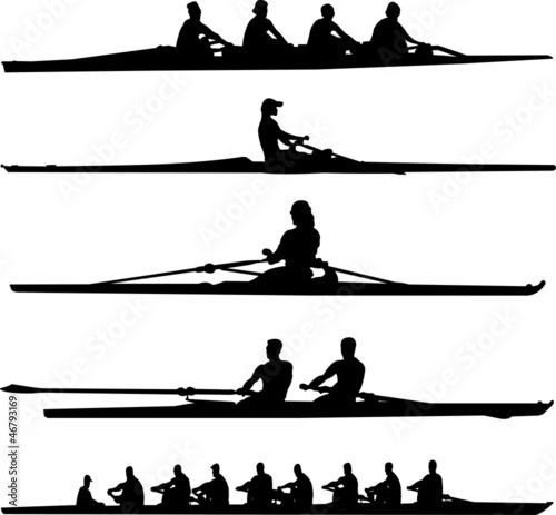 Fototapeta rowing collection - vector