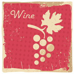 wine vintage illustration