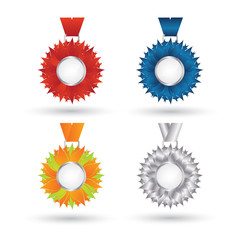 Vector modern Medal set design