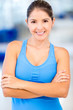 Confident gym woman