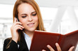 Busy businesswoman portrait