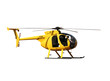 Leinwanddruck Bild - Generic yellow helicopter for fire/rescue, isolated.