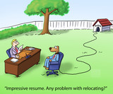 Dog may have problem with relocation interview poster