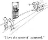 I love the sense of teamwork in hallway poster