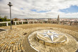 Compass rose in the viewpoint of Burgos, Castilla y Leon, Spain