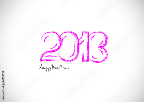 2013 Happy New Year background Sign