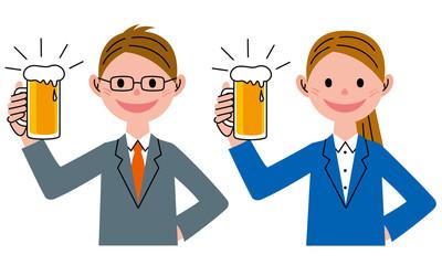 ビール 男性 女性