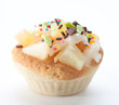 Mix fruits vanilla cupcake good dessert for your tea time