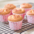 Delicious cupcakes topping with almond nice for party snack