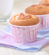 Delicious cupcakes topping with almond