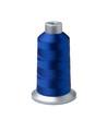 Bobbin of dark blue thread