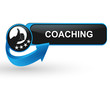 coaching sur bouton web design bleu