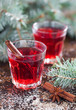 Hibiscus tea with spices, selective focus