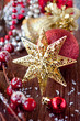 Christmas star and decorations