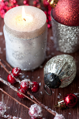 Christmas candles and Christmas decorations