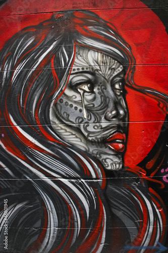 Fototapeten,graffiti,kunst,frau,schrei