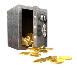 Safe Spilling Coins Perspective
