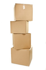 Stack of big cardboard boxes