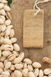 pistachios nuts and tag price labe