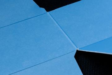 geöffnete Faltschachtel, Detail