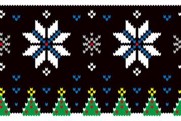 ノルディック模様風の雪