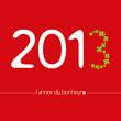 voeux 2013 bonheur fond rouge