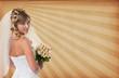 Bride. Striped grunge background