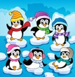 Winter theme with penguins 2