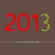 voeux 2013 bonheur fond brun