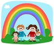 Familie unterm Regenbogen